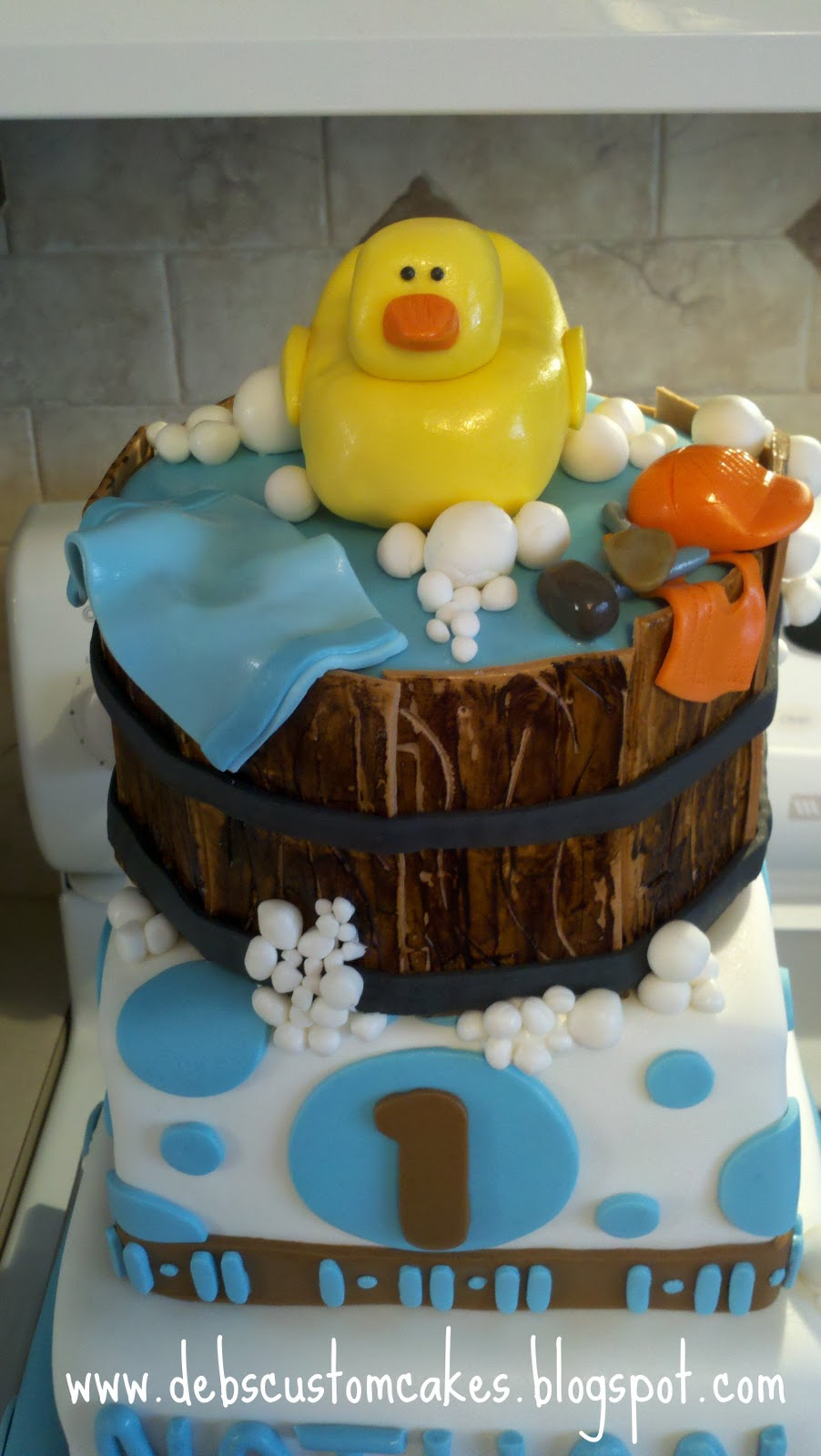 Deb S Custom Cakes Rubber Duck 1st Birthday Cake