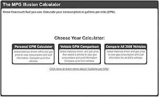The Mpg Illusion Website Gpm Calculator With 2009 Car Information