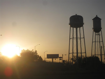 arizona sunset, water tower