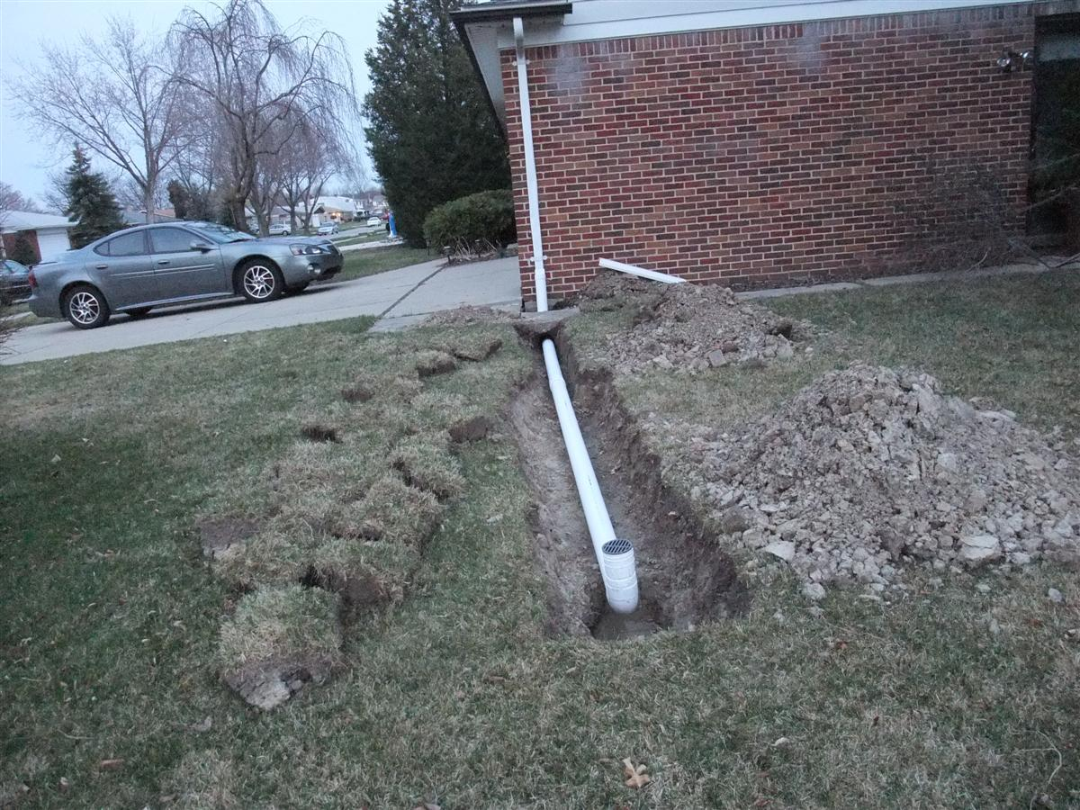 How To Install A Roof Drain Trench Gutter Downspout