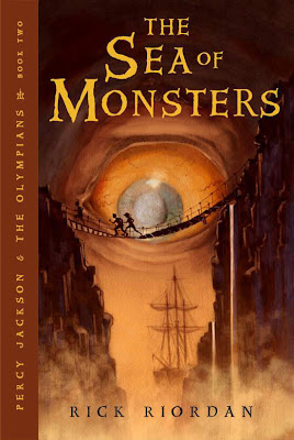 percy jackson and the olympians, the sea of monsters, rick riordan, book cover