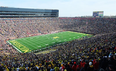 final game of the year, michigan stadium