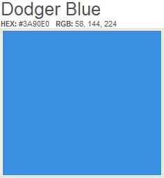 What Panatone Color Is Dodger Blue