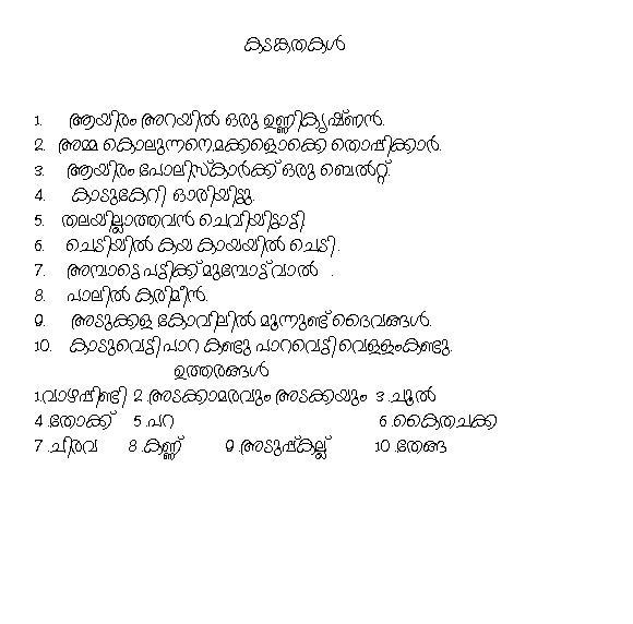 KADAM KATHAKAL IN MALAYALAM PDF