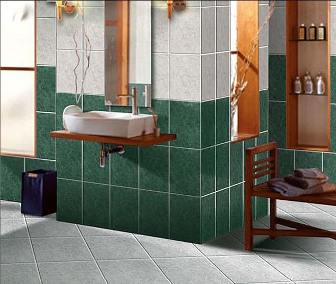 Fotos de ba os modernos marmolizados coloridos decoraci n for Diseno de banos con guardas verticales