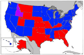 Current Political Map Of Us Political Maps Blog: Current US House Map (by State Delegation)