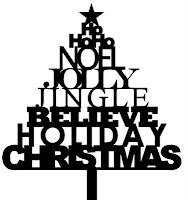 Christmas Word Tree - Free Christmas SVG