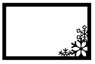 Snowflake Frame Free SVG Download