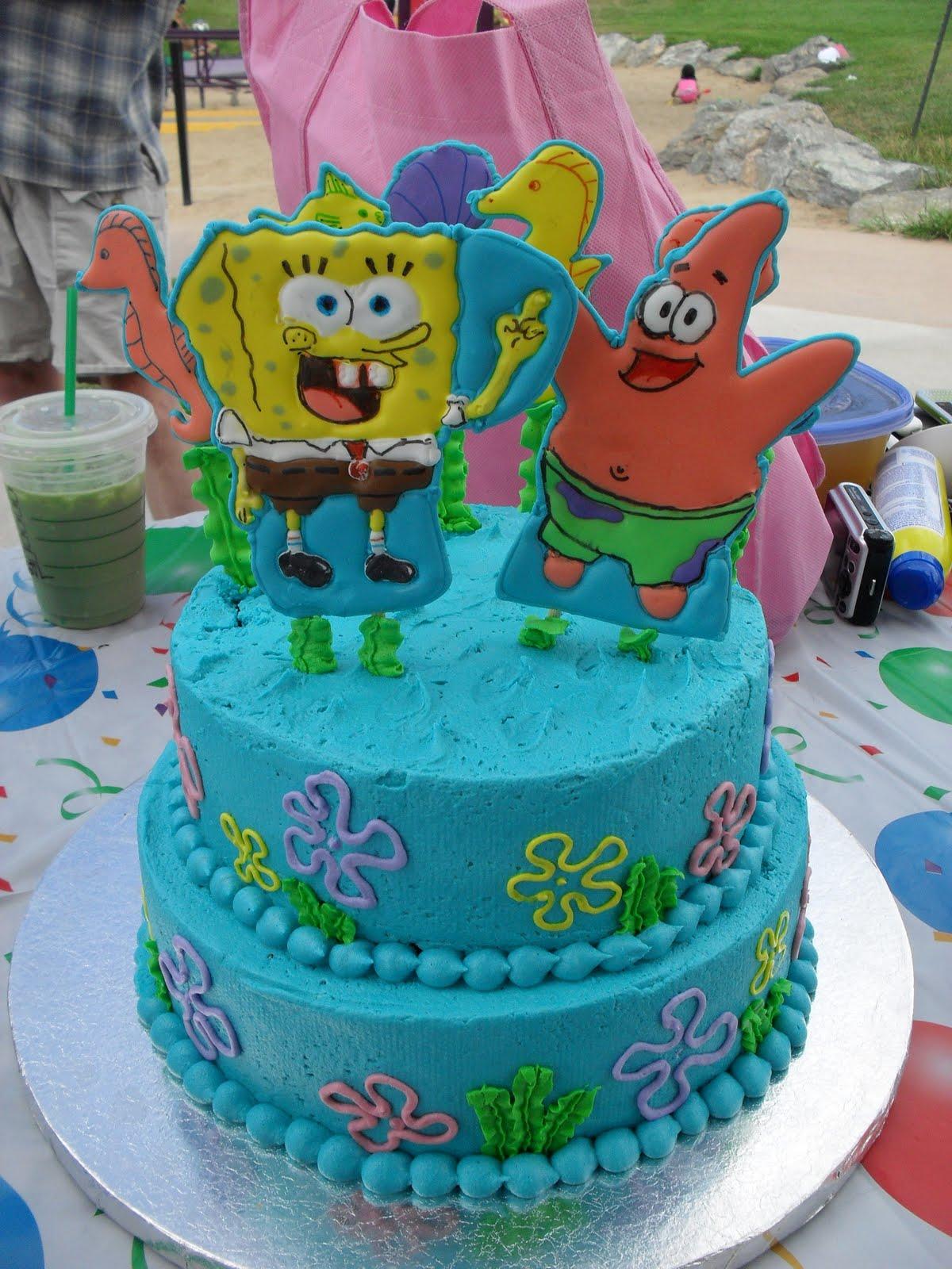 Girly Spongebob Birthday Cakes