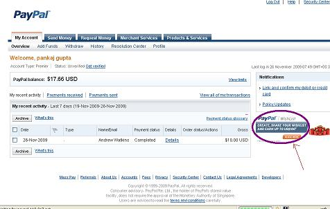 Earn USD 100 From Paypal and facebook using paypal wishlist