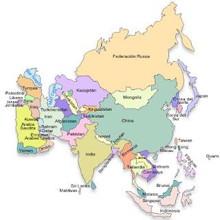 mapa da asia paises e capitais Capitais e paises: Ásia mapa da asia paises e capitais