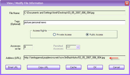 Host files and documents on your computer