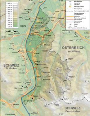 Geographie Von Liechtenstein