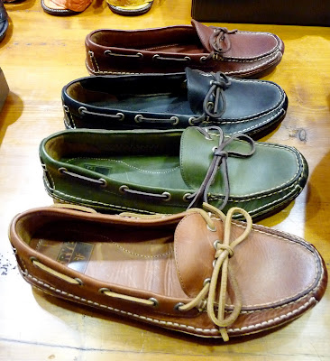 bf70d4c383 The more classic boat shoe...the Bleeker…comes in brushed suede or vintage  calf leather…in new colors like red and blue….with grip it crepe outsoles.
