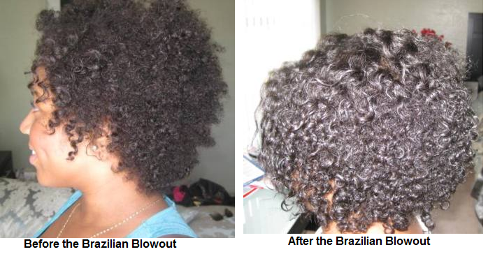 Brazilian Blowout Natural African American Hair