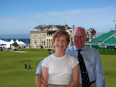 Colin and Trish Brown -- at St Andrews --- Click to enlarge