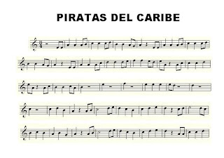 Piratas del Caribe (Pirates of the Caribbean) de Hans Zimmer BSO Partitura de Piratas del Caribe para Saxofón Alto, Flauta, Trompeta, Trombón, Clarinete, Violín y Saxofón Tenor. Pirates of Caribbean Sax, Flute, Trumpet, Clarinet, Tenor Sax, Trombone and Violin Scores, Sheet music of  Pirates of Caribbean