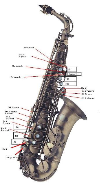 Imagen Digitación del Saxofón Saxophone sax