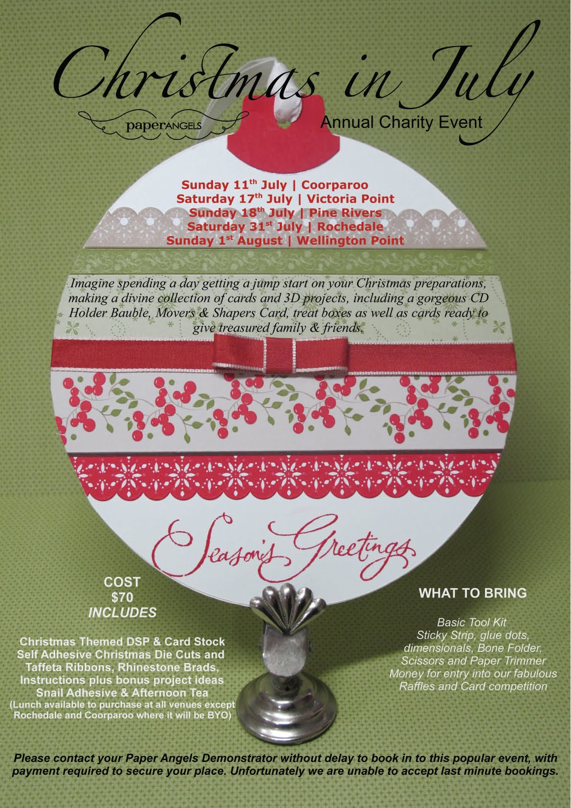 Christmas Fundraiser Flyer.Stampin With U Paperangels Christmas In July Fundraiser