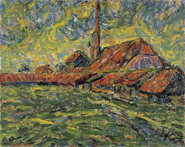 Pintura Expresionista Alemana Erich Heckel El Perro Morao