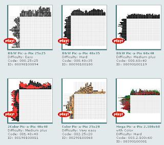 logic puzzler: Pic-a-pix puzzles