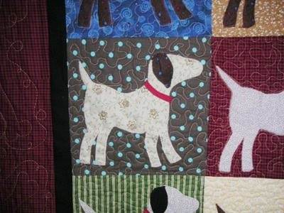Woolley Fiber Quilters Dog Quilts And A Dawg Quilt