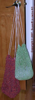 crocheted shopping bags
