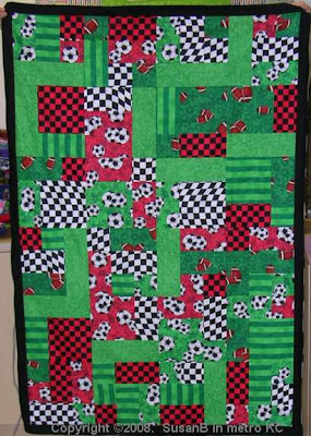 Auto Racing themed Yellow Brick Road Quilt