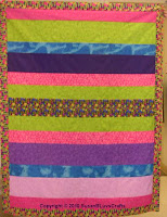 Simple Strips quilt top - SusanB