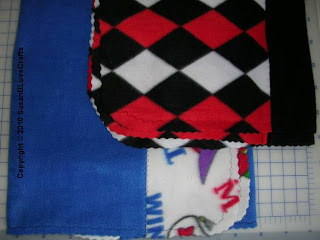 machine stitched fleece blankets