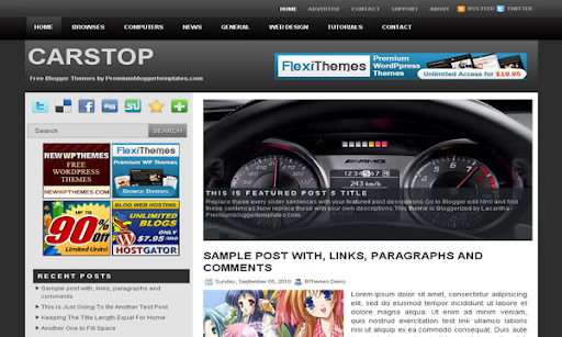CarStop Blogger Template