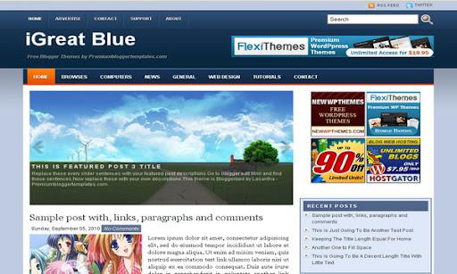 iGreat Blue Blogger Template