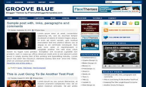 Groove Blue Blogger Template