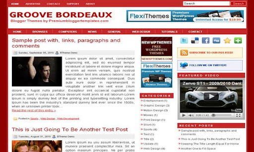 Groove Bordeaux Blogger Template