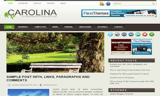 Carolina Blogger Template