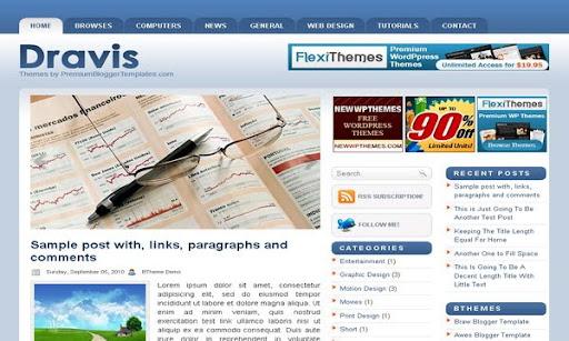 Dravis Blogger Template