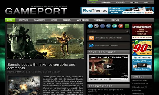 GamePort Blogger Template
