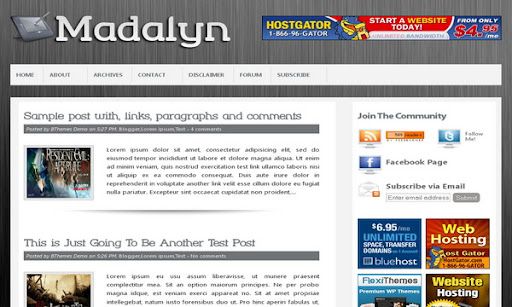 Madalyn Blogger Template
