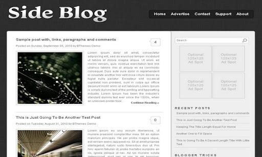 Side Blog Blogger Template