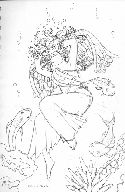 coloring pages of fallen angels - photo#19