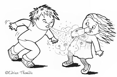 No More Spreading Germs Coloring Pages for Kids | 264x400