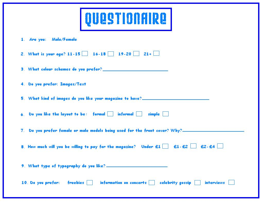 Questionnaires in research methods