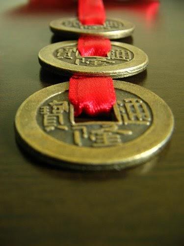 Moedas Chinesas-Simbolo da Sorte