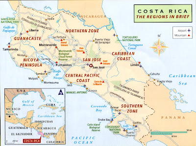 costa rica central valley map Costa Rica Day 1 Adventure Exploration And Relaxation costa rica central valley map