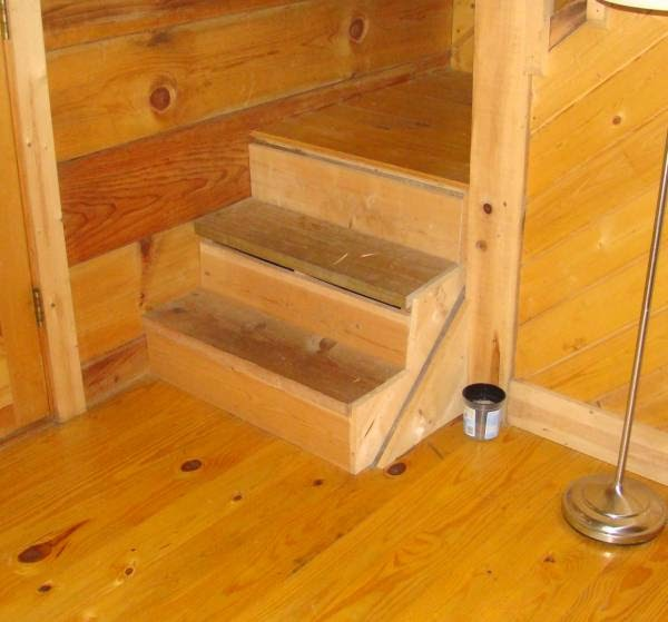 New Pine Stair Treads On Steps