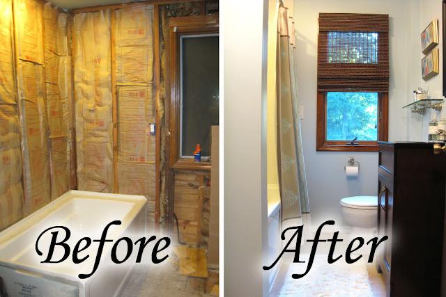 Remodelaholic Bathroom Remodel Reveal Amp Shower Curtain