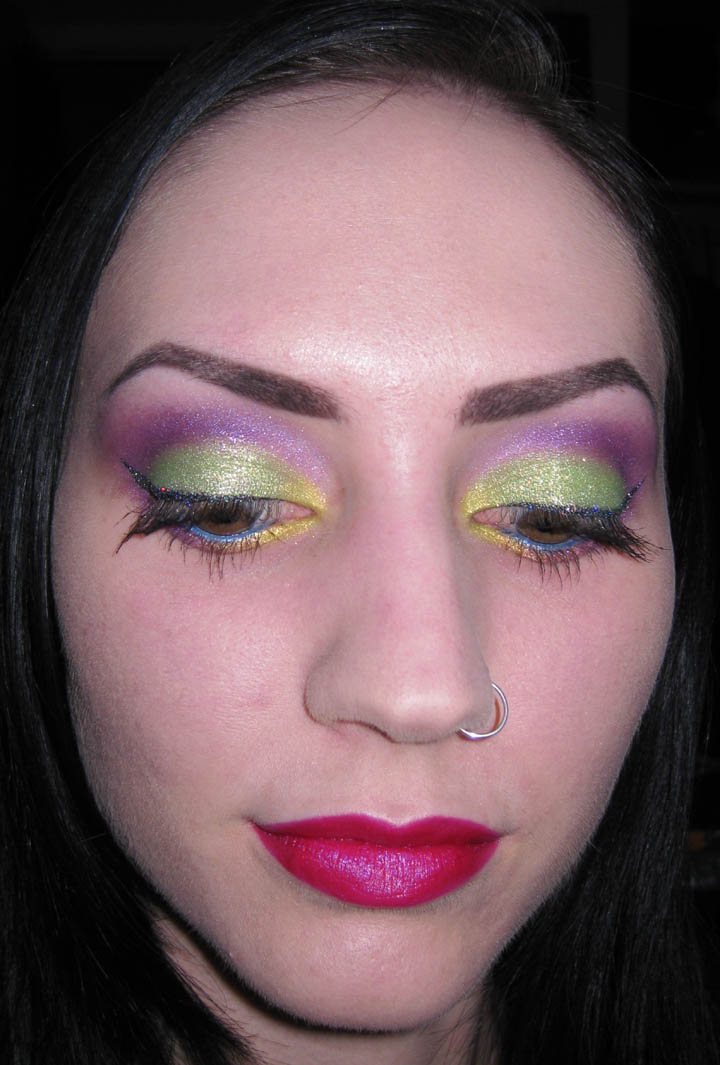 Glitter Is My Crack...: Yellow, Lime And Violet + Glitter