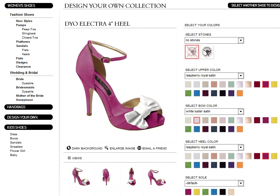 81885a75db21 Design your own shoes at Ninashoes.com also get 30% off shoes until Feb 2011