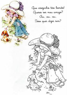 Club Sarah Kay Tiernos Dibujos Para Colorear