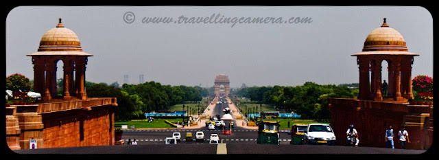 View of India Gate from President's House: Posted by VJ: The India Gate is the national monument of India. It is one of the largest war memorials in India. Situated in the heart of New Delhi, India Gate was designed by Sir Edwin Lutyens. Originally known as All India War Memorial, it is a prominent landmark in Delhi and commemorates the 90,000 soldiers of the erstwhile British Indian Army who lost their lives fighting for the British Indian Empire, or more correctly the British Empire in India British Raj in World War I and the Afghan Wars.It is made up of red sand stone and granite.: VJ, ripple, Vijay Kumar Sharma, ripple4photography, Frozen Moments, photographs, Photography, ripple (VJ), VJ, Ripple (VJ) Photography, VJ-Photography, Capture Present for Future, Freeze Present for Future, ripple (VJ) Photographs , VJ Photographs, Ripple (VJ) : Originally a Statue of King George V had stood under the now-vacant canopy in front of the India Gate and was removed to Coronation Park with other statues. Following India's independence, India Gate became the site of the Indian Army's Tomb of the Unknown Soldier known as the Amar Jawan Jyoti (Immortal Soldier).